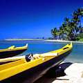 Maunalua Bay Outrigger Canoe by Thomas R Fletcher