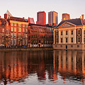 Mauritshuis And Hofvijver At Golden Hour - The Hague by Barry O Carroll
