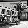 Max's Diner New Jersey Black And White by Terry DeLuco