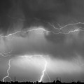 May Showers - Lightning Thunderstorm  Bw 5-10-2011 by James BO  Insogna