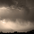 May Showers 2 In Sepia - Lightning Thunderstorm 5-10-2011   by James BO Insogna