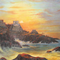 Mayan Sunset by Sonia Flores Ruiz