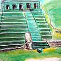 Mayan Temple by Stanley Morganstein