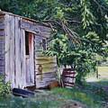 Mayne Island Sawmill by Elaine Booth-Kallweit