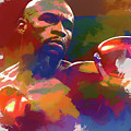 Mayweather Watercolor by Dan Sproul