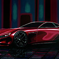 Mazda Rx Vision 2015 Painting by Paul Meijering