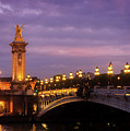 Bridge Of Alexandre IIi At Night by Anastasy Yarmolovich