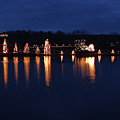 Mcadenville Lake With Christmas Lights by Jill Lang