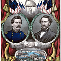 Mcclellan And Pendleton Campaign Poster by War Is Hell Store