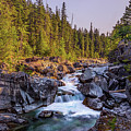 Mcdonald Creek Falls by Peter Tellone
