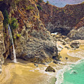 Mcway Falls On The California Coast by Rikka-chan