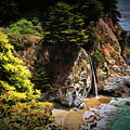 Mcway Falls Painting by Judy Vincent