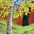 Meadow Birch In Autumn by Frank Wilson