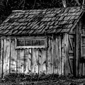 Meadow Shelter - Bw by Alan Hart