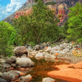 Meandering Oak Creek Canyon by Bob Coates