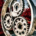 Mechanical Flowers On Bricks by Mel Steinhauer
