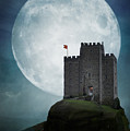 Medieval Castle At Night By Moonlight by Lee Avison