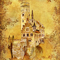 Medieval Golden Castle by Angeles M Pomata