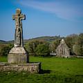 Medieval High Cross In Irish Pasture by James Truett
