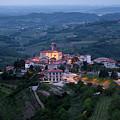 Medieval Hilltop Village Of Smartno Brda Slovenia At Dawn In The by Reimar Gaertner