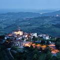 Medieval Hilltop Village Of Smartno Brda Slovenia At Dusk With S by Reimar Gaertner