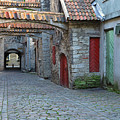 Medieval Lane In Tallinn by Greg Matchick
