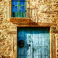 Medieval Spanish Gate And Balcony - Vintage Version by Weston Westmoreland