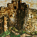 Medieval Split Tower, Rome Landscape  Landscape Expressionism Series by Alessandro Nesci