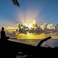 Meditating At Sunrise by Charles Miner Rosado