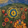 Meditating Master In Divine Garden by Maggis Art