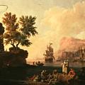 Mediterranean Harbor Scene by Mountain Dreams