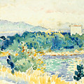 Mediterranean Landscape With A White House by Henri-Edmond Cross