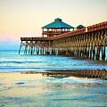 Meet You At The Pier - Folly Beach Pier by Sandra Bennett