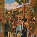 Meeting Of Duke Ludovico II Gonzaga With Cardinal Francesco Gonz Fragment by Mantegna Andrea