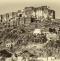 Mehrangarh Fort Sepia by Steve Harrington