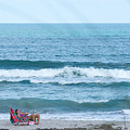 Melbourne Beach Florida On The Phone by JG Thompson