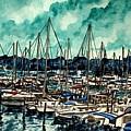 Melbourne Florida Sailing Marina by Derek Mccrea