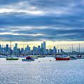 Melbourne Skyline by Max Neivandt