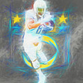 Melvin Gordon La Chargers 4 Football by David Haskett II