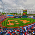 Memorial Day At Kauffman Stadium by C H Apperson