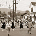 Memorial Day Parade Ashley Pa With Train Station And The Huber Colliery In Background 1955 by Arthur Miller