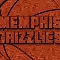 Memphis Grizzlies Leather Art by Joe Hamilton