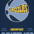 Memphis Grizzlies Vintage Basketball Art by Joe Hamilton