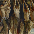 Men At An Anvil, Study For The Spirit Of Vulcan by Edwin Austin Abbey