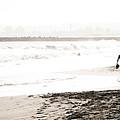 Men On Beach by Marilyn Hunt