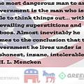 Mencken Quote 7 by Bruce
