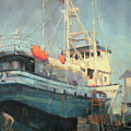 In Dry Dock by Charles Thomas Fine Art