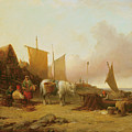 Mending Nets by William Shayer