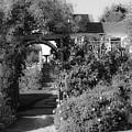 Mendocino Gate Bw by Bonnie Follett