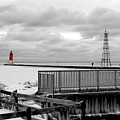 Menominee North Pier Lighthouse On Ice by Mark J Seefeldt